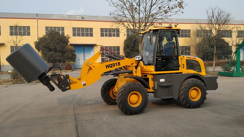 HQ918 loader with Japan Yanmar engine and Mixing drum
